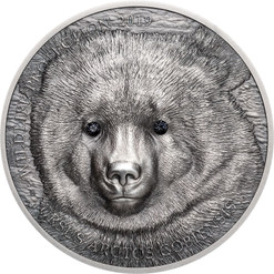 MONGOLIAN GOBI BEAR Wildlife Protection 1 Oz Silver Coin 500 Togrog Mongolia 2019