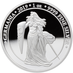 2019 GERMANIA Proof 5 Mark 1 Oz .9999 Silver Round