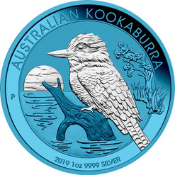 KOOKABURRA Space Blue Edition 1 oz Silver Coin 1$ Australia 2019