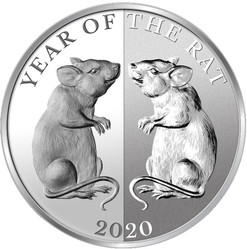 MIRROR RAT - Year of the Rat 1 oz Silver Coin 65 mm Tokelau 2020