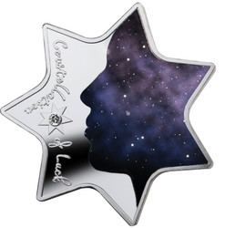 CONSTELLATION LUCK Star Shaped Silver Coin 1000 Francs Cameroon 2019