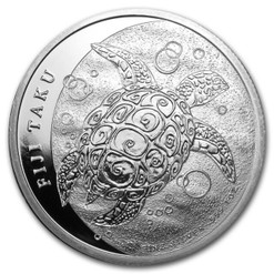 TAKU 1 oz Silver Coin NZ Mint $2 Fiji 2012