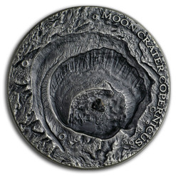 COPERNICUS MOON NWA 8609 Universe Craters 1 Oz Silver Coin 1$ Niue 2019
