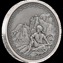 SINBAD THE SAILOR Legendary Tales 1 Oz Silver Coin 2$ Niue 2019