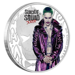 JOKER – SUICIDE SQUAD 1 Oz Silver Coin 1$ Tuvalu 2019