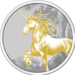 Tokelau 2014 1 oz Gilded Silver $5 UNICORN Coin