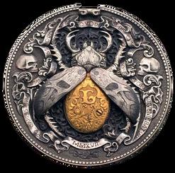 Roman Booteen's GOLD BUG – HOBO NICKEL with original Morgan Dollar & 1/10 OZ OF 22K Gold