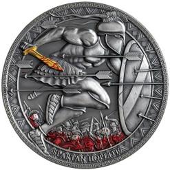 SPARTAN HOPLITE Legendary Warriors 3 Oz Silver Coin Cameroon 2019
