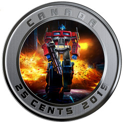 TRANSFORMERS - OPTIMUS PRIME - 25 cent 3D Lenticular Coin - Canada