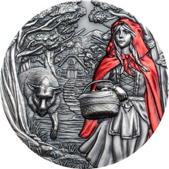 LITTLE RED RIDING HOOD 3 Oz Silver Coin $20 Cook Islands 2019