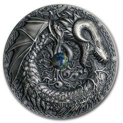 NORSE DRAGON Mythical Creatures 2 Oz Silver Coin 10$ Palau 2019