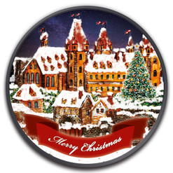 NEUSTADT CHRISTMAS 1 oz Ruthenium Colorized Coin 2019