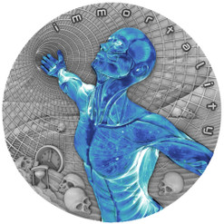 IMMORTALITY Code of the Future 2 Oz Silver Coin $2 Niue 2018