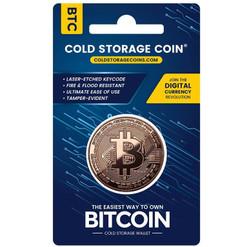 BITCOIN  Cold Storage Coin 1  AV Ounce  999 Fine Copper