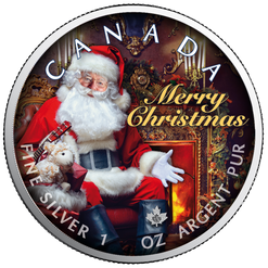 SANTA CLAUS Maple Leaf 1 oz Silver Coin Canada 2019