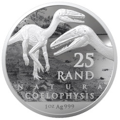 Natura - COELOPHYSIS Palaeontology 1 Oz Silver - South Africa 2020