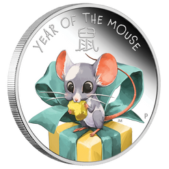 BABY MOUSE Year of the Mouse 1/2 oz Silver Proof Coin Tuvalu 2020