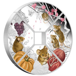 YEAR of the MOUSE Quadrant - 4 x 1 oz Silver Proof Coin set Tuvalu 2020