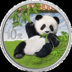 PANDA Day 30 g Silver Color Coin set China 2020