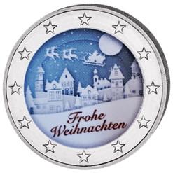 2 Euro White Night Colored Coin 2019