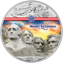 MOUNT RUSHMORE Landmarks USA 1 oz Silver Coin 2020 USA
