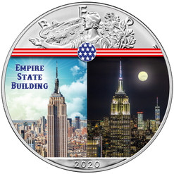 EMPIRE STATE BUILDING Landmarks USA 1 oz Silver Coin 2020 USA