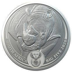 RHINO BIG FIVE 5 Rand 1 Oz Silver - South Africa 2020