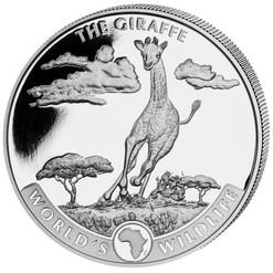 GIRAFFE African Wildlife 1 oz Silver  Coin 2019 Cong