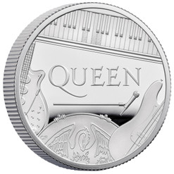 GREAT BRITAIN QUEEN 'Music legends' series 1/2 oz Silver coin £1 UK 2020