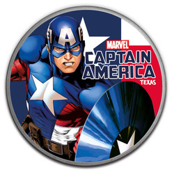 CAPTAIN AMERICA Marvel series 1 oz Silver Color Coin Tuvalu 2018