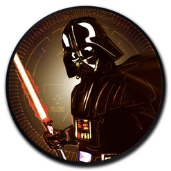 STAR WARS Darth Vader 1 oz Silver Color Coin Niue 2019