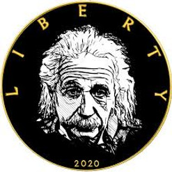 ALBERT EINSTEIN - WE CHANGED THE WORLD series 1 oz Silver Gold plated Coin USA