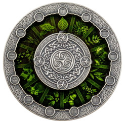 CELTIC CALENDAR 2 Oz Silver High Relief Coin Niue 2020