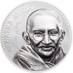 MAHATMA GANDHI 1 Oz Silver Proof Coin 1000 Togrog Mongolia 2020