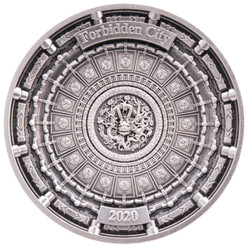 Forbidden City 100 g Antique Finish 4-Layer Silver Coin 10$ Solomon Islands 2020