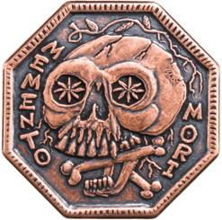 MEMENTO MORI -MEMENTO VIVERE Copper Coin