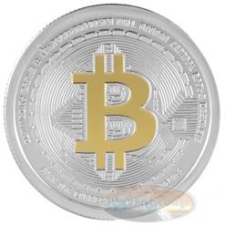 1 oz. Silver BitCoin Bullion Coin Gold Gilded