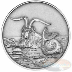 2015 Myth & Legend - Capricornus 1oz Silver Antique Finish Tokelau Coin