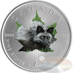 1 oz Maple Leaf Silver FOX Theme ~ Silver .9999 $5 Canada 2015