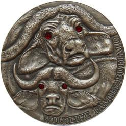 BUFFALO Wildlife Family 1 Oz Silver Coin 1$ Niue 2014