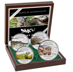 Magnificent Reptiles - Silver Proof coins Congo 2013
