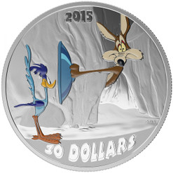 2 oz Looney Tunes™ Classic Scenes Fast and Furry-ous-2015 $30 Silver Coin