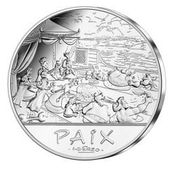 "ASTERIX & OBELIX ""Peace""- 50€ silver coin France 2015"