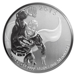 2015 $20 Fine Silver Coin DC Comics Originals Superman TM