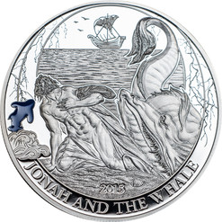 Jonah and the Whale Silver Proof Coin 2$ Palau 2015