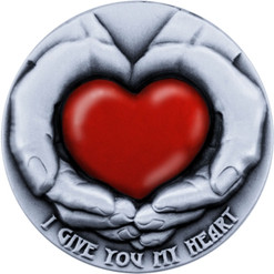 Niue 2016 5$ I Give You My Heart Emotions series 3 oz Antique finish Silver Coin