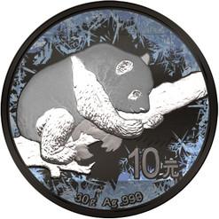 Panda Deep Frozen 10 Y 1oz Silver Ruthenium & Platinum PL Coin