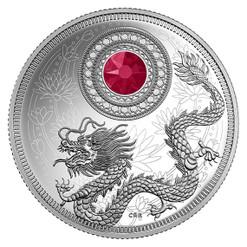 BIRTHSTONES - July - 2016 $5 Silver Coin with Swarovski® Crystal