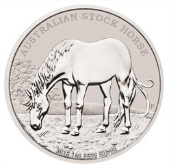 2016 1 oz Silver Coin - Australian Stock Horse Perth Mint