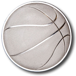 2016 1 oz Domed Basketball Silver Round rev
